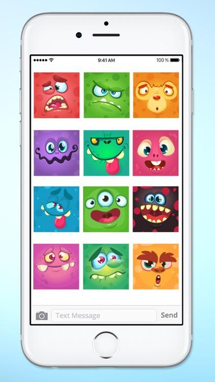 Monster Face Emoji Sticker Pack 1