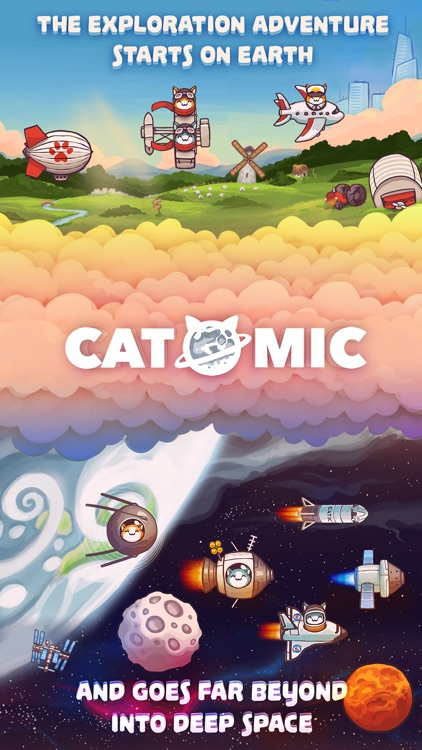 Catomic Match 3: Space Cats and Atomic Owls Puzzle screenshot-0