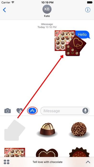 傳達巧克力的愛情屏幕截圖1