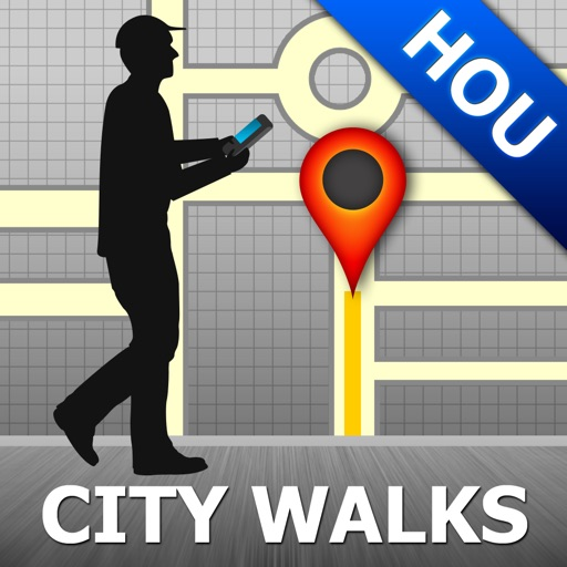 Houston Map and Walks, Full Version