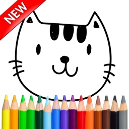Cute Cat Kitten Kids Girl Coloring Book Pages