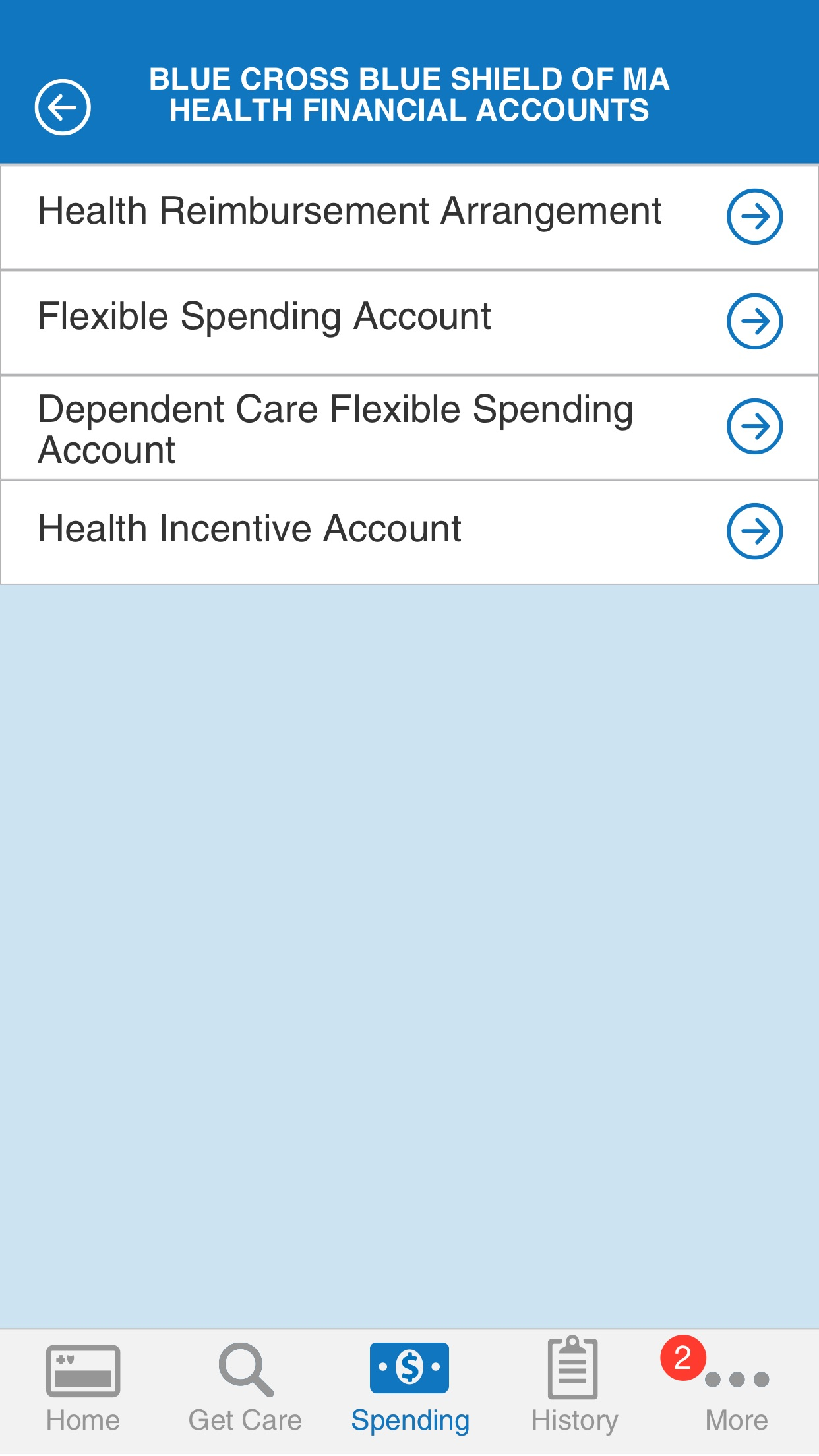 Blue Cross Blue Shield of MA MyBlue Member App Screenshot