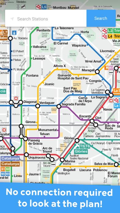Metro Barcelona offline TBM