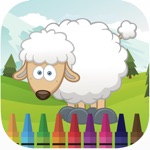 My farm animal coloring book games for kids