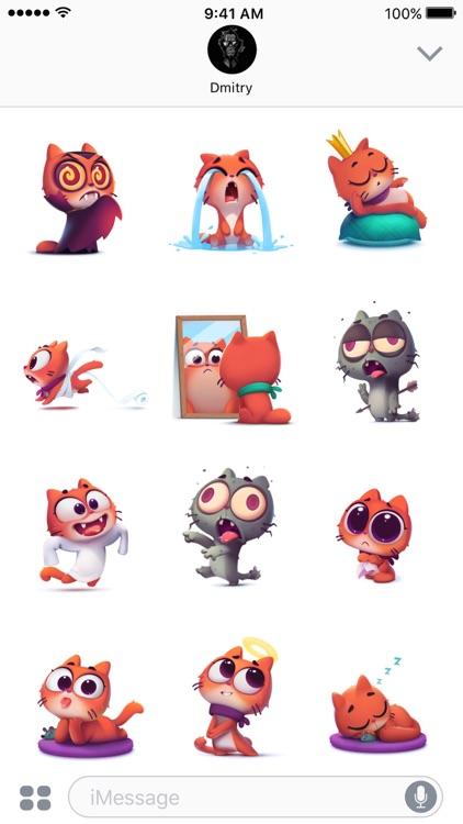 Taffy Cat in Love – Emoji & Stickers