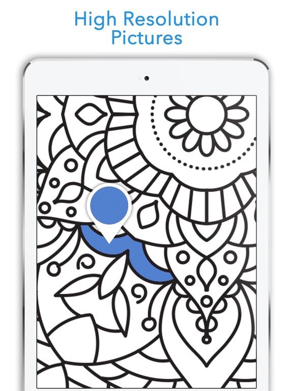 Screenshot 3 For Mandala Coloring Book Anti Stress Adult Easy