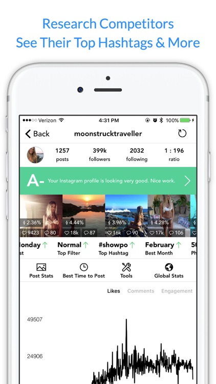 Command Analytics & Stats for Instagram app image
