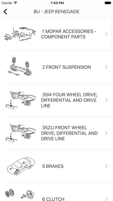 Screenshot for Car Parts for Chrysler - ETK Spare Parts Diagrams in Poland App Store