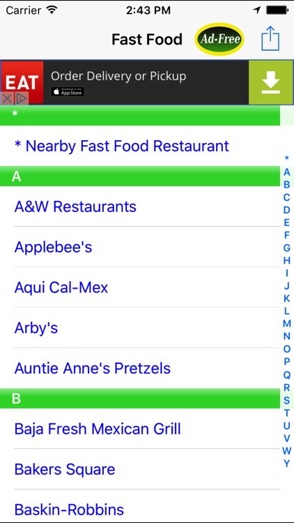 Fast Food Finder! Find FastFood Restaurants