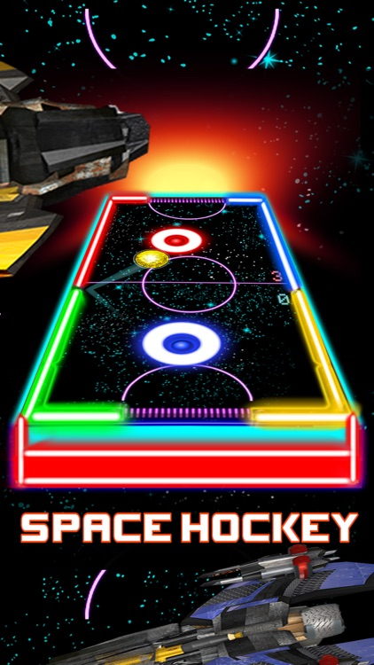 Glow Hockey HD - 2 Player Neon Light Air Hockey