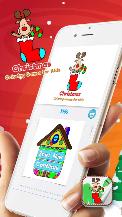 Christmas Coloring Games for Kids screenshot-0