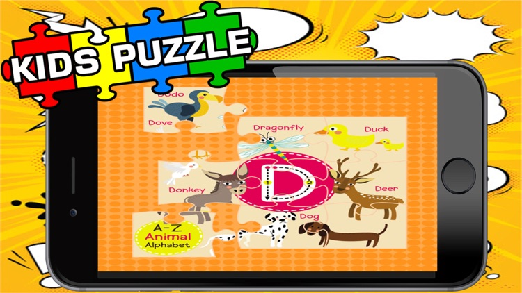 Kids ABC Jigsaw Puzzle Games:Toddler Learning Free screenshot-3