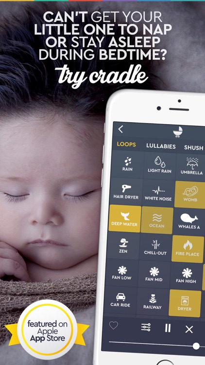 Baby Sleep Sounds  - Cradle screenshot-0