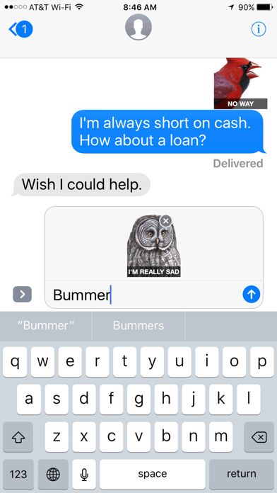 iBird Stickers Screenshot