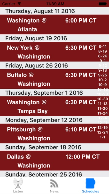Washington Football - Radio, Scores & Schedule screenshot-3