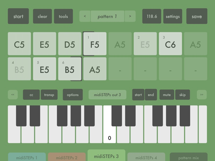 midiSTEPs - midi step sequencer toy screenshot-2