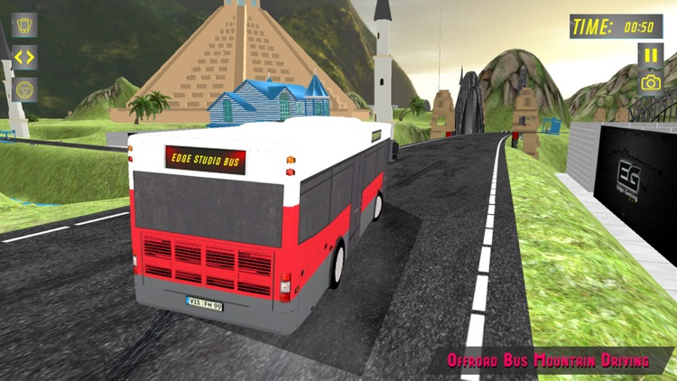 Elevated Bus Parking : Hill Station Bus Drive Game screenshot-4