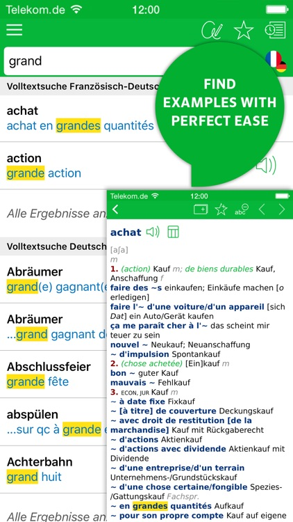 Dictionary French - German ADVANCED by PONS screenshot-1