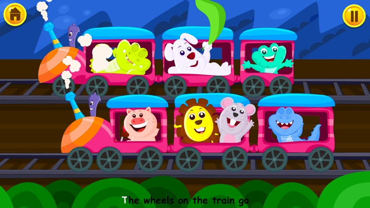 Wheels On The Bus - Kidlo Nursery Rhymes For Kids screenshot-3