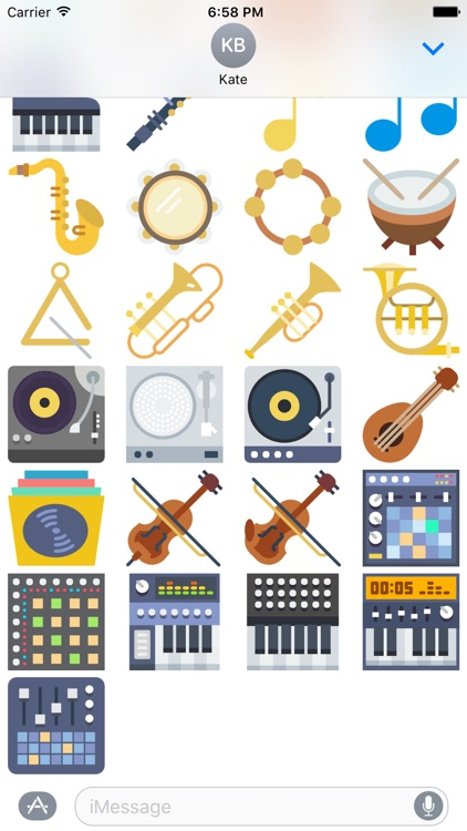 Music Stickers -Emoticons for Texting in Messenger screenshot-4