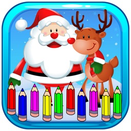 Coloring Page Christmas and New Year For Kids