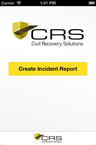 Screenshot of CRS RecApp