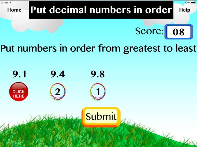 Put decimal numbers in order screenshot-3