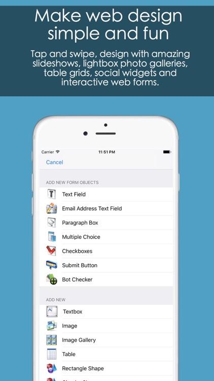 HTML Egg Pro Website Designer for iPhone screenshot-4