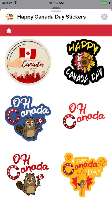 Happy Canada Day Stickers ! screenshot 5