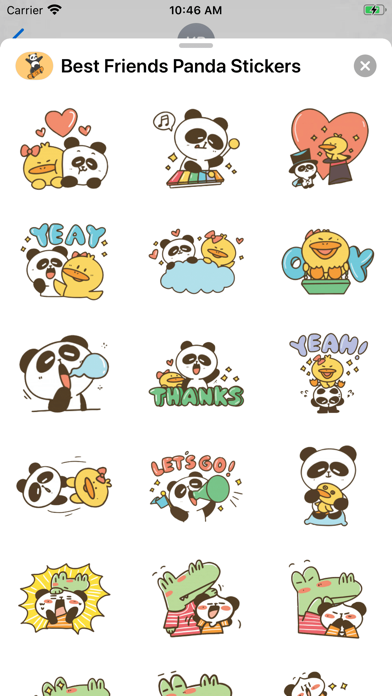 Best Friends Panda Stickers screenshot 2