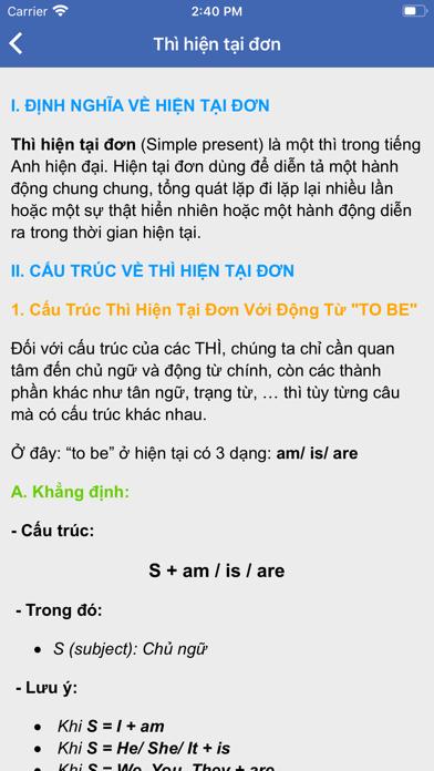 Ngữ pháp tiếng Anh - Thi THPT screenshot 3
