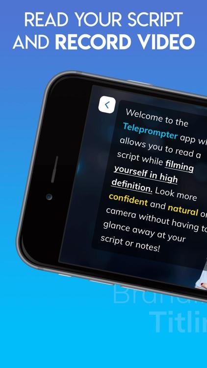 Teleprompter for Video Script screenshot-0