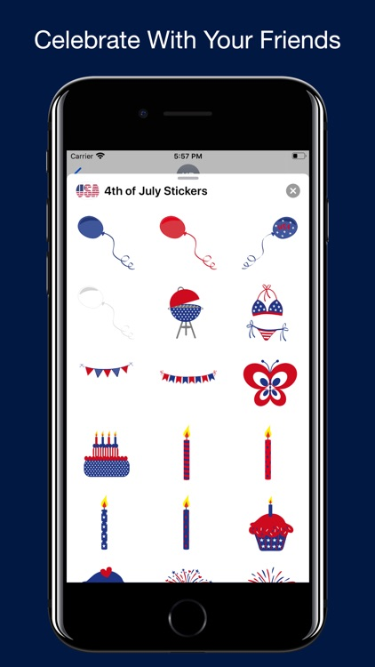 4th of July Stickers.