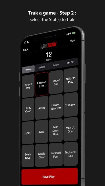 LaxTrak - Lacrosse Game Stats screenshot-3