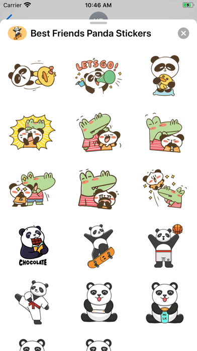 Best Friends Panda Stickers screenshot 3