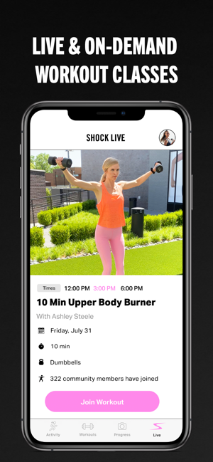 ‎SHOCK: Workout App For Women Screenshot