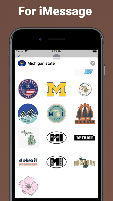 Michigan state - USA stickers screenshot 3