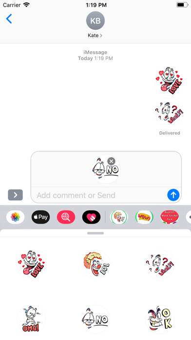Hi Bye Stickers screenshot 3