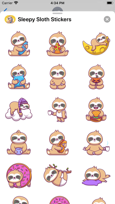 Sleepy Sloth Stickers screenshot 2