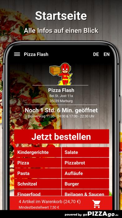 Pizza Flash Marburg screenshot 2