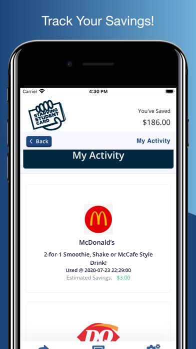 Starving Student Card Screenshot