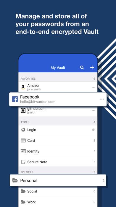 Bitwarden PasswortmanagerScreenshot von 1