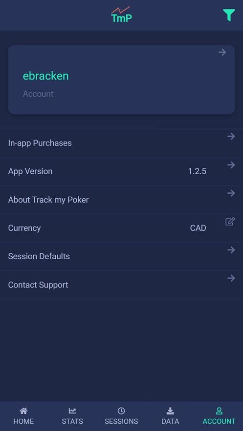 TmP - Track my Poker App 截图
