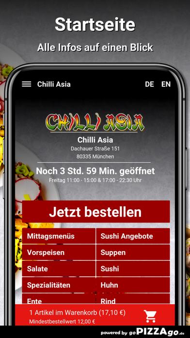 Chilli Asia München screenshot 2