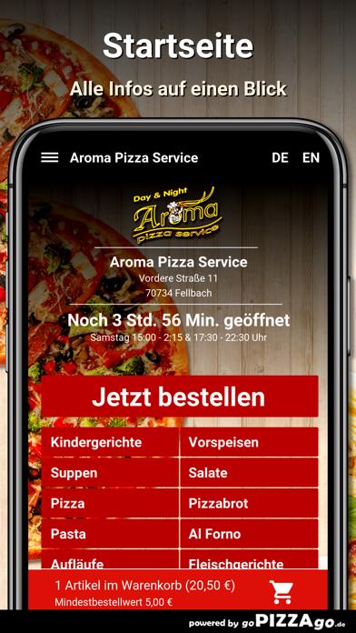 Aroma Pizza Service Fellbach screenshot 2