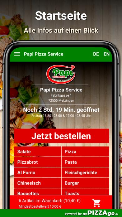 Papi Pizza Service Metzingen screenshot 2