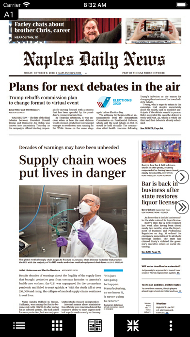 Naples Daily News Print Screenshot