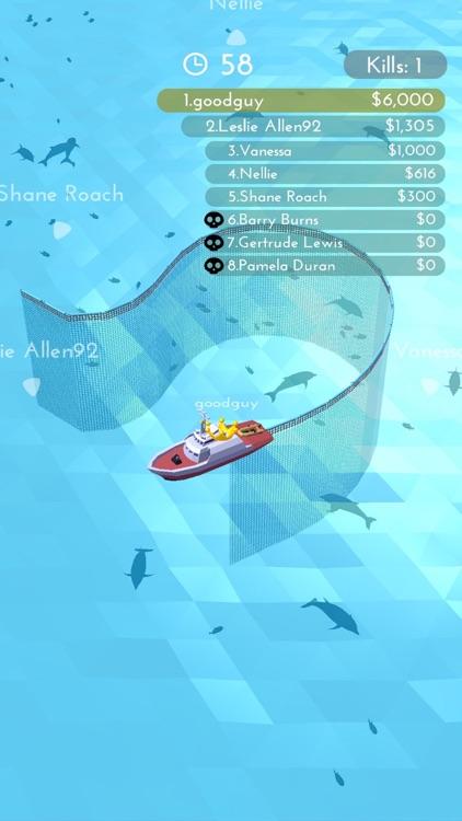 Fishingnet 3D: Battle io game screenshot-7