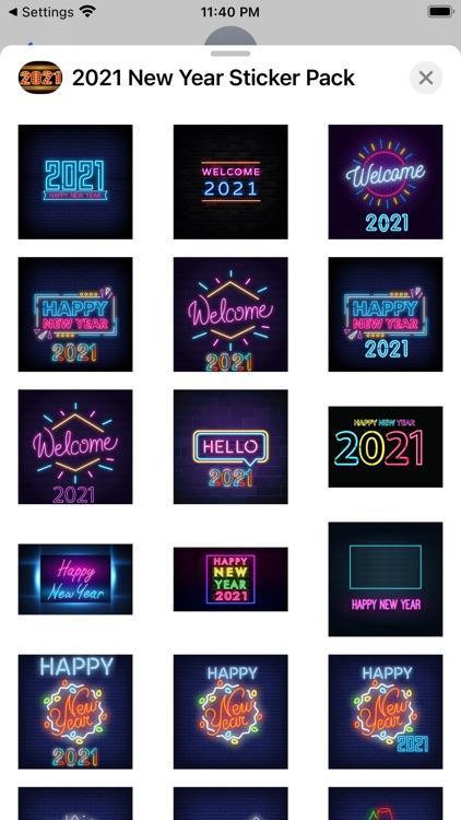 2021 New Year Sticker Pack screenshot-6