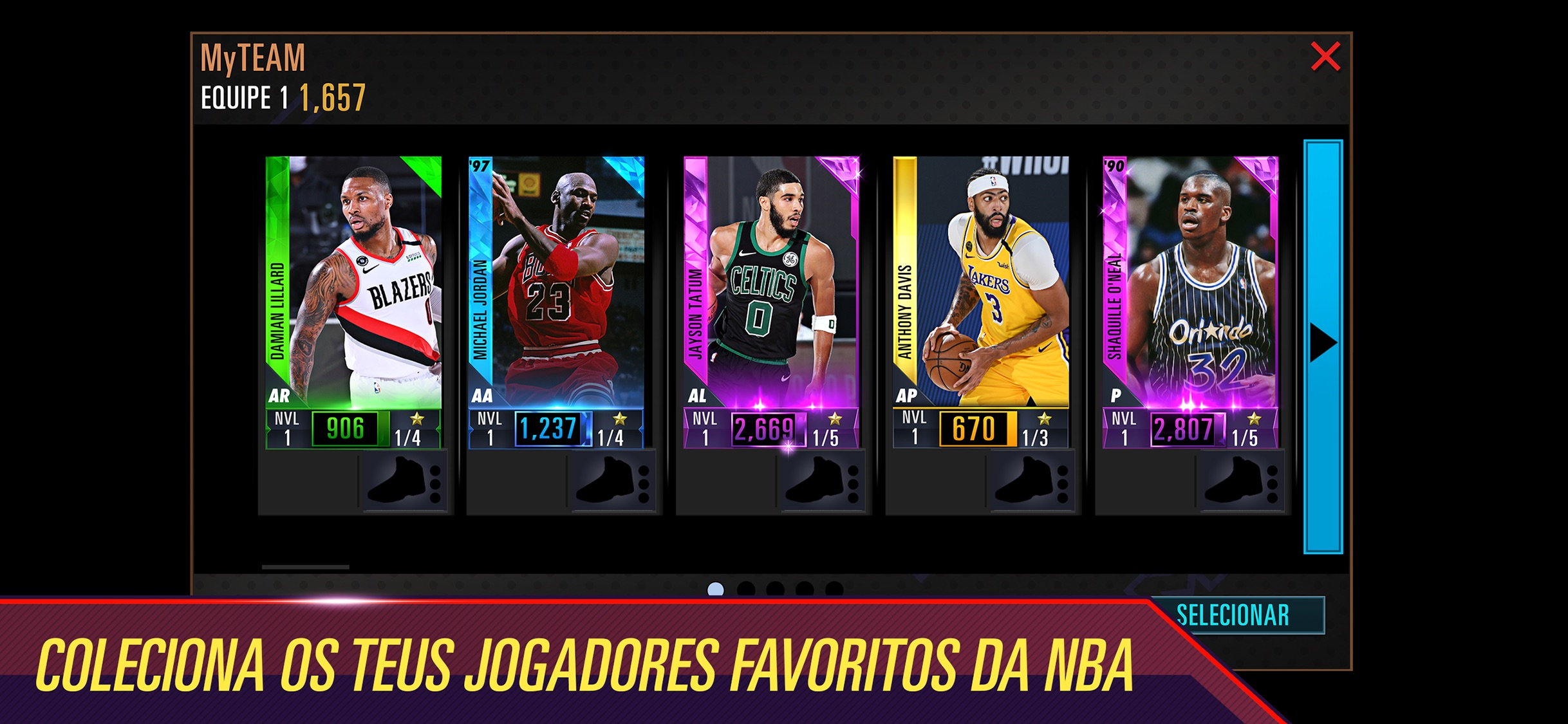 Screenshot do app NBA 2K Mobile Basketball